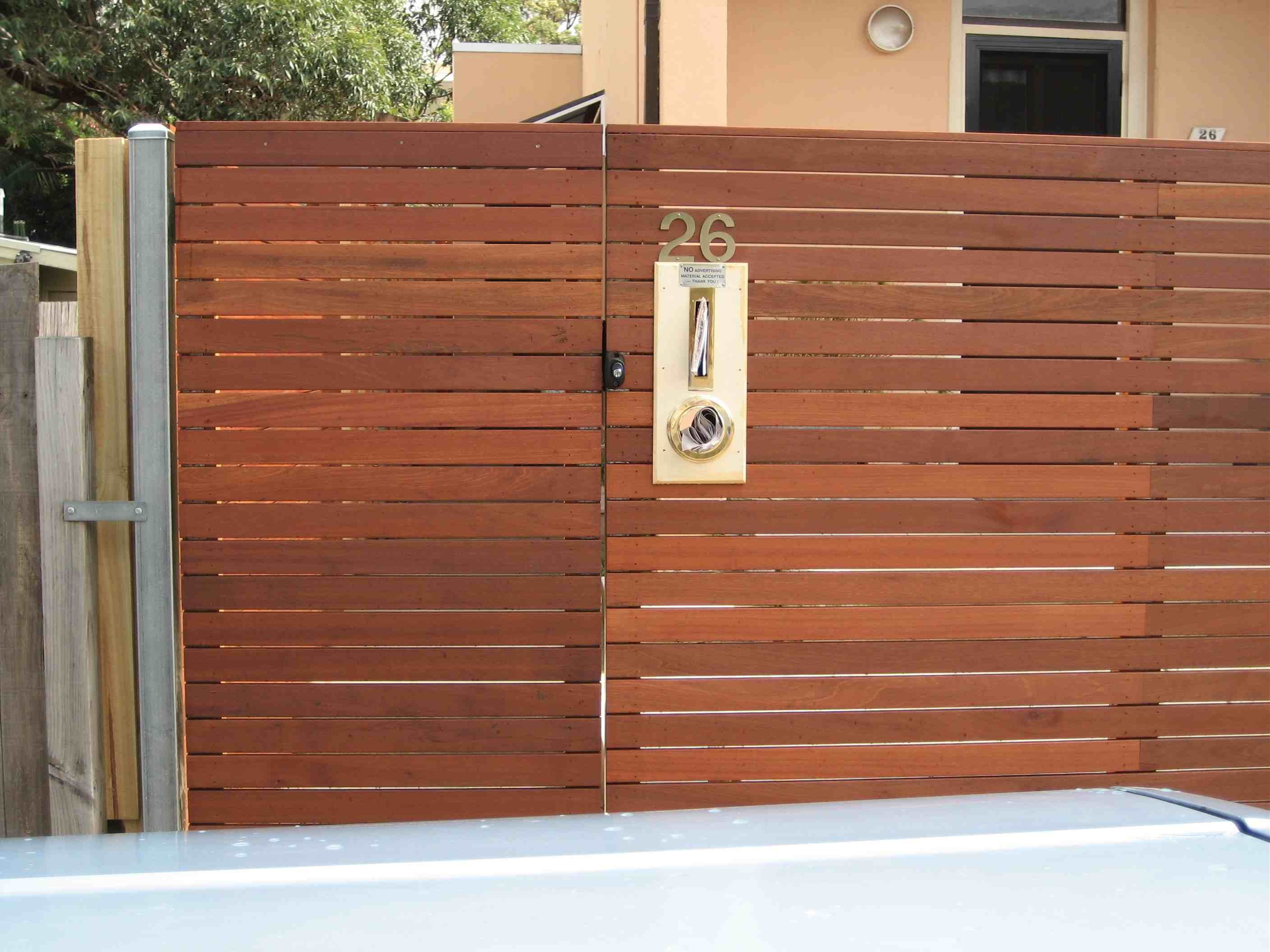 modern horizontal fence google search
