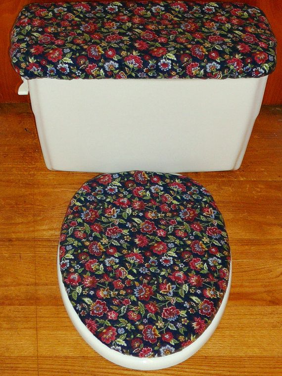 How To Sew Toilet Seat Lid Covers Flowery Flannel Toilet