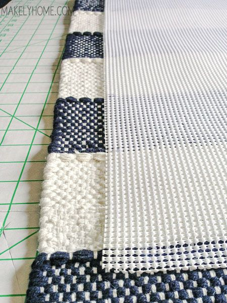 How To Create A NonSlip Bath Mat From A Cotton Rug Cotton Rugs - Bathroom rug runner for bathroom decorating ideas