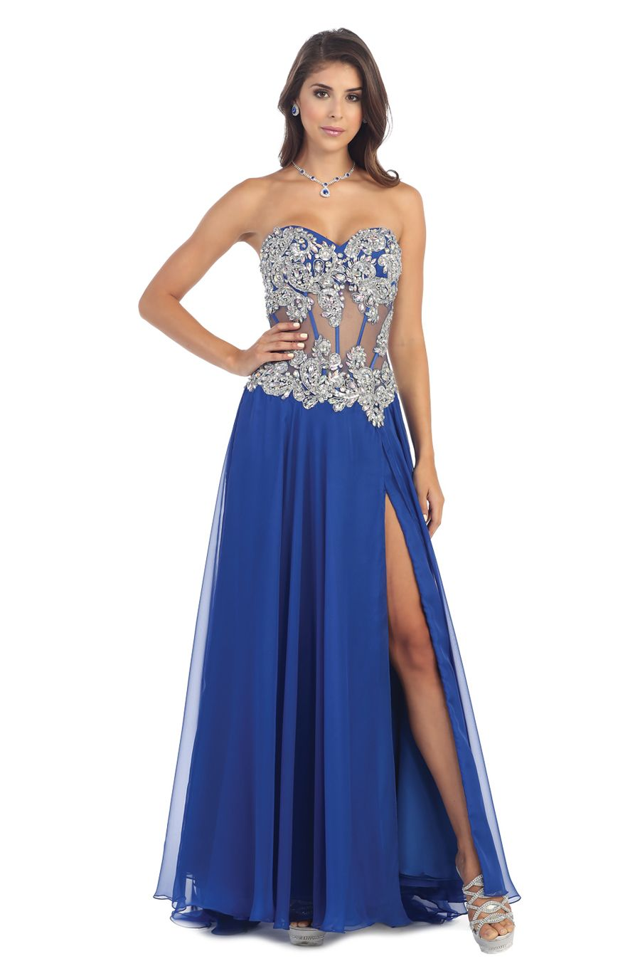 Let your wild side out in this daring gown from may queen rq