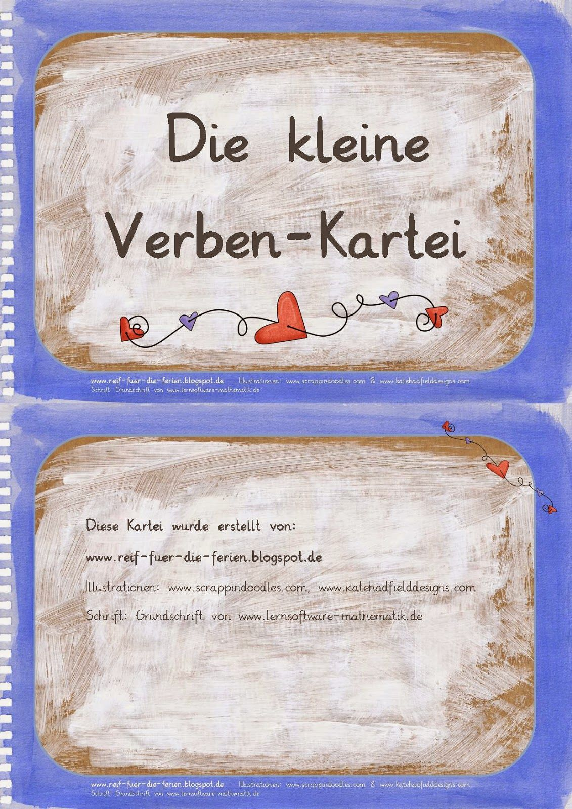 Deutsch in der Grundschule: Verben-Kartei | nemčina | Pinterest ...