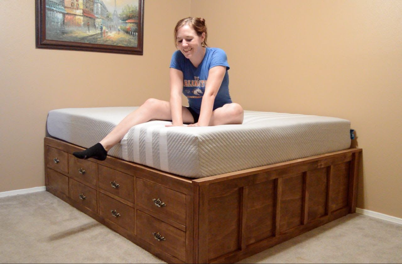 Make a Queen Size Bed With Drawer Storage : April Wilkerson - 17 Aug ...