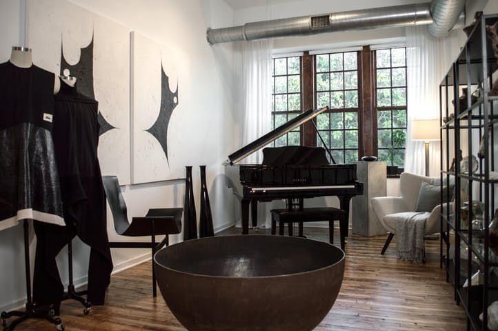 a black white brutalist inspired loft akron ohiointerior design - Interior Design Akron Ohio