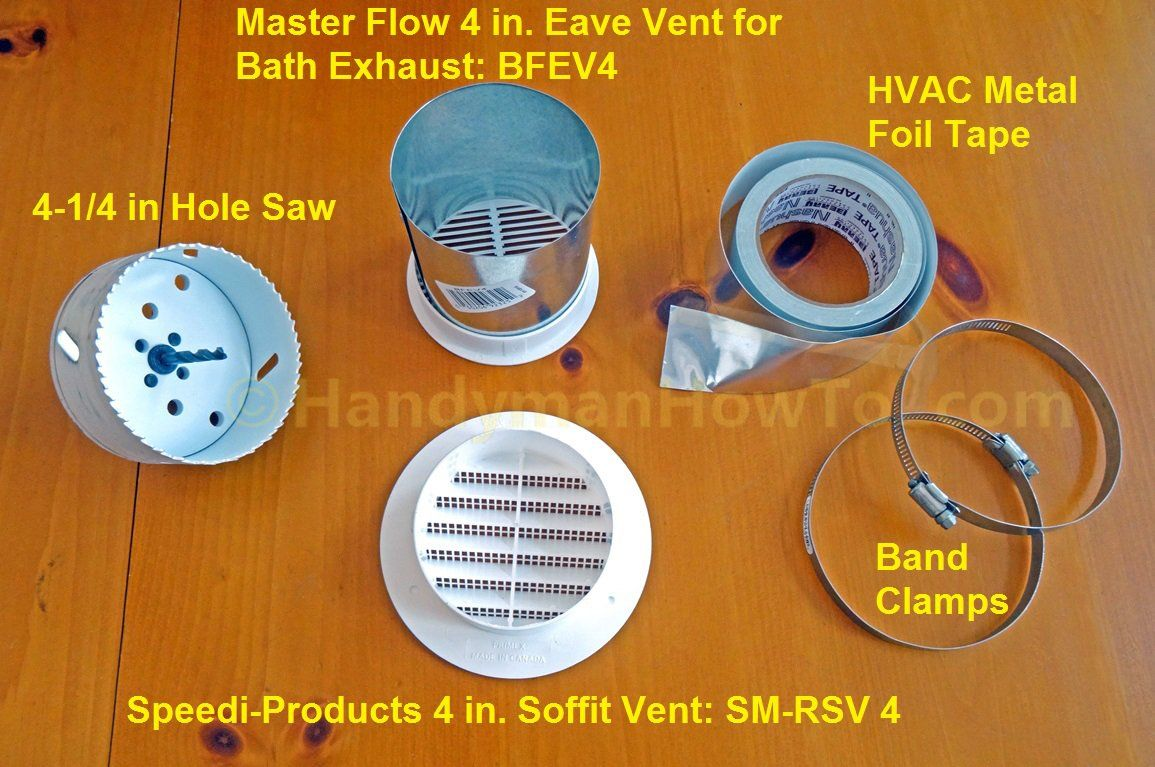Bathroom Vent Fan 4 Inch Soffit Vent Parts By Speedi Products And Master Flow Bathroom Vent Bathroom Vent Fan Bathroom Exhaust