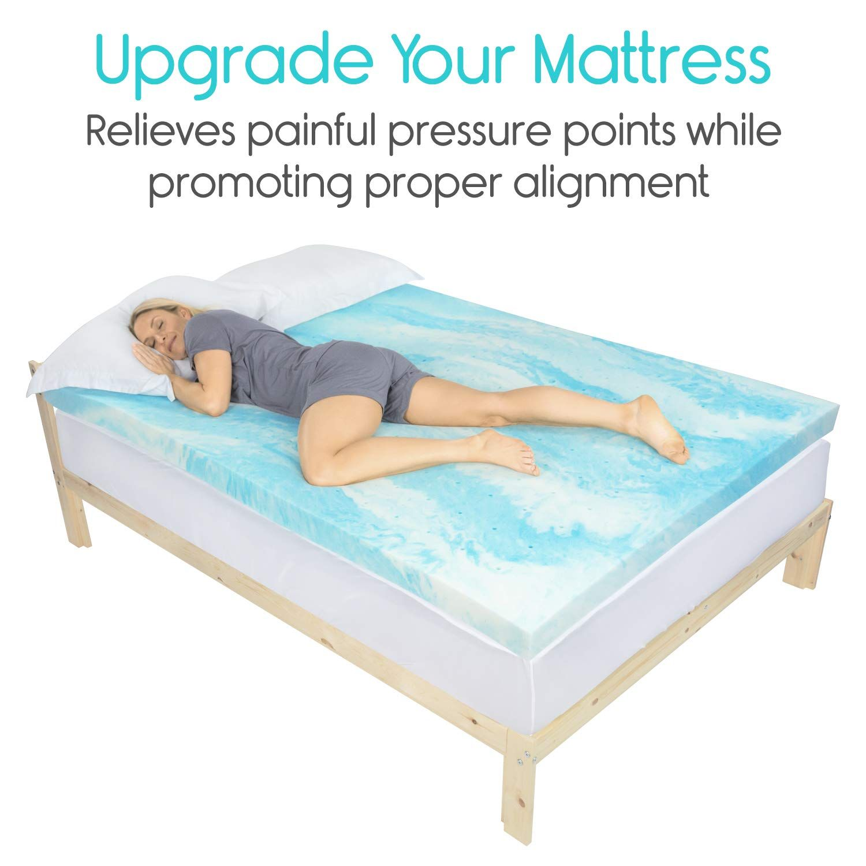 Xtracomfort Memory Foam Mattress Topper Queen 3 Inch Thick Gel Bed