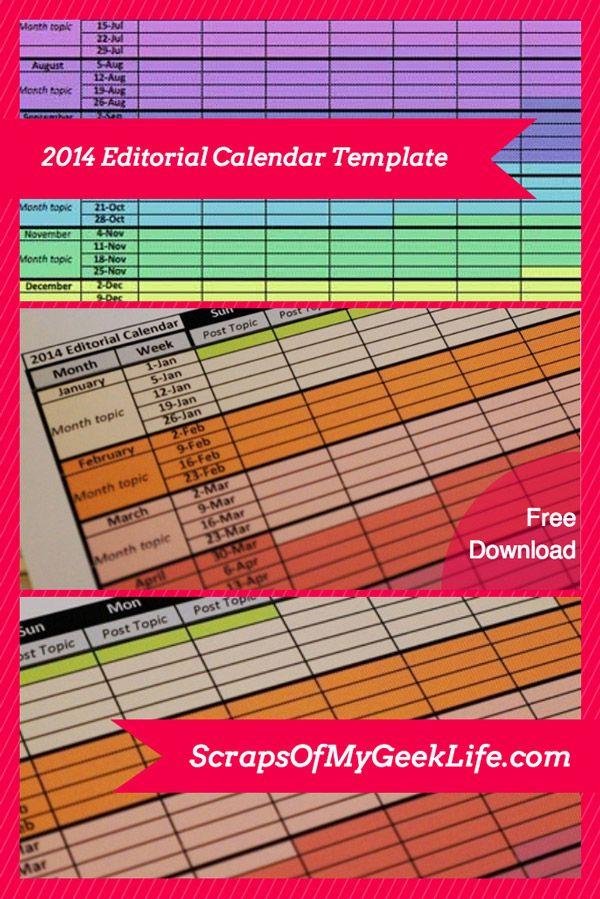 Social Media Editorial Content Calendar My Social Content