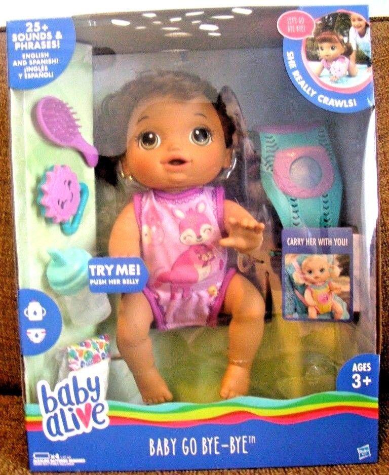 Baby Alive Baby Go Bye Bye Interactive Speaking English Spanish Brunette Crawls Baby Alive Baby Working With Children