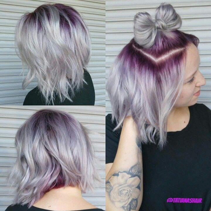 Metallic Hair Silverhair Hairbow Blonde Hair With Roots Ambre Hair Roots Hair