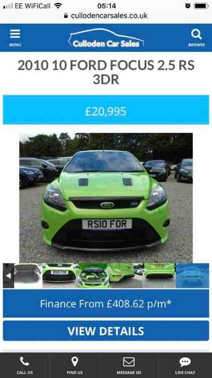 Ford Focus Rs 2 5 3dr 2010 Regrs10for Stolen From Inverness Ford Focus Ford Focus Rs Focus Rs