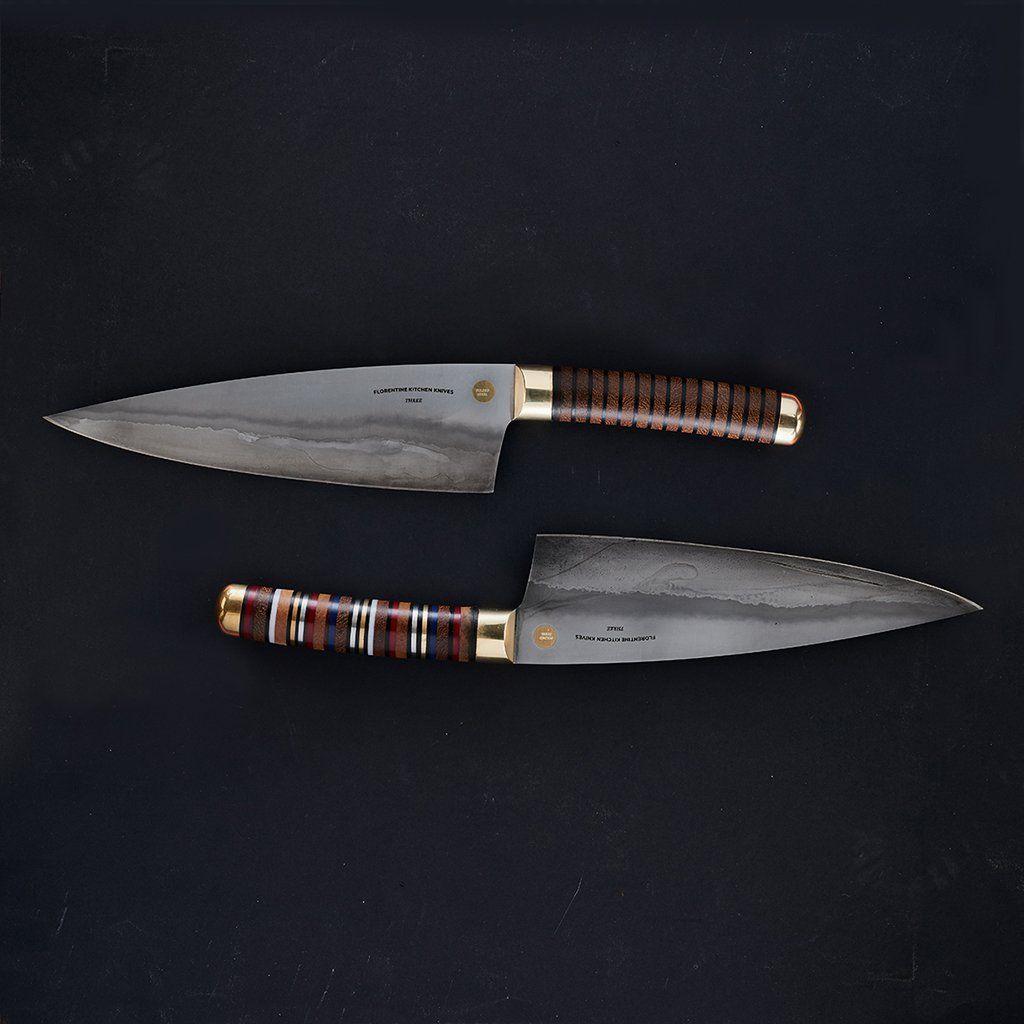 folded steel kitchen knives florentine three folded steel pre sale florentine