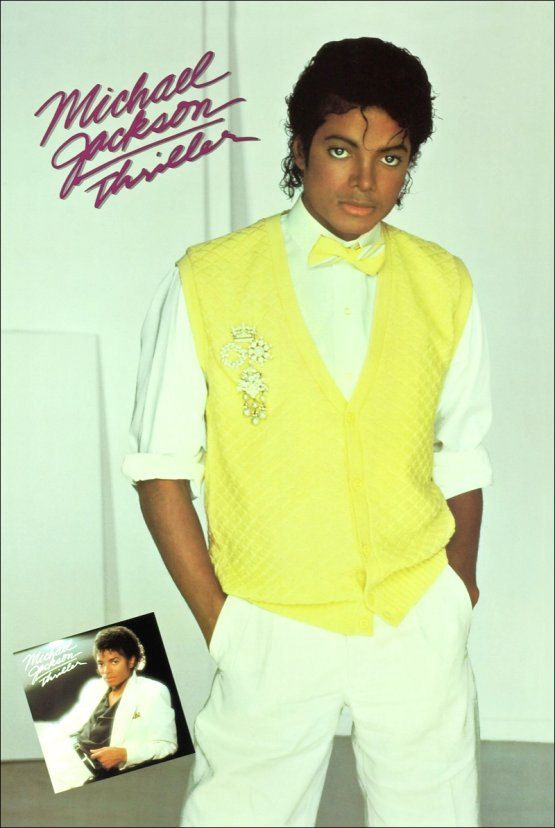 Michael Jackson Collectibles Yellow Sweater Thriller Stand Up