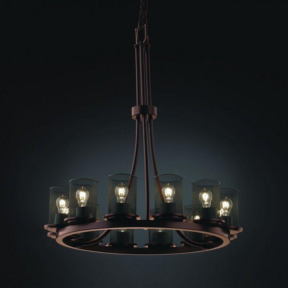 Wire Mesh - Twelve Light Tall Ring Dakota Chandelier | Lighting ...
