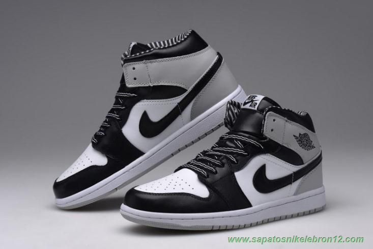 Air Jordan 1 Retro Preto Branco 555088 010 High Og Masculino