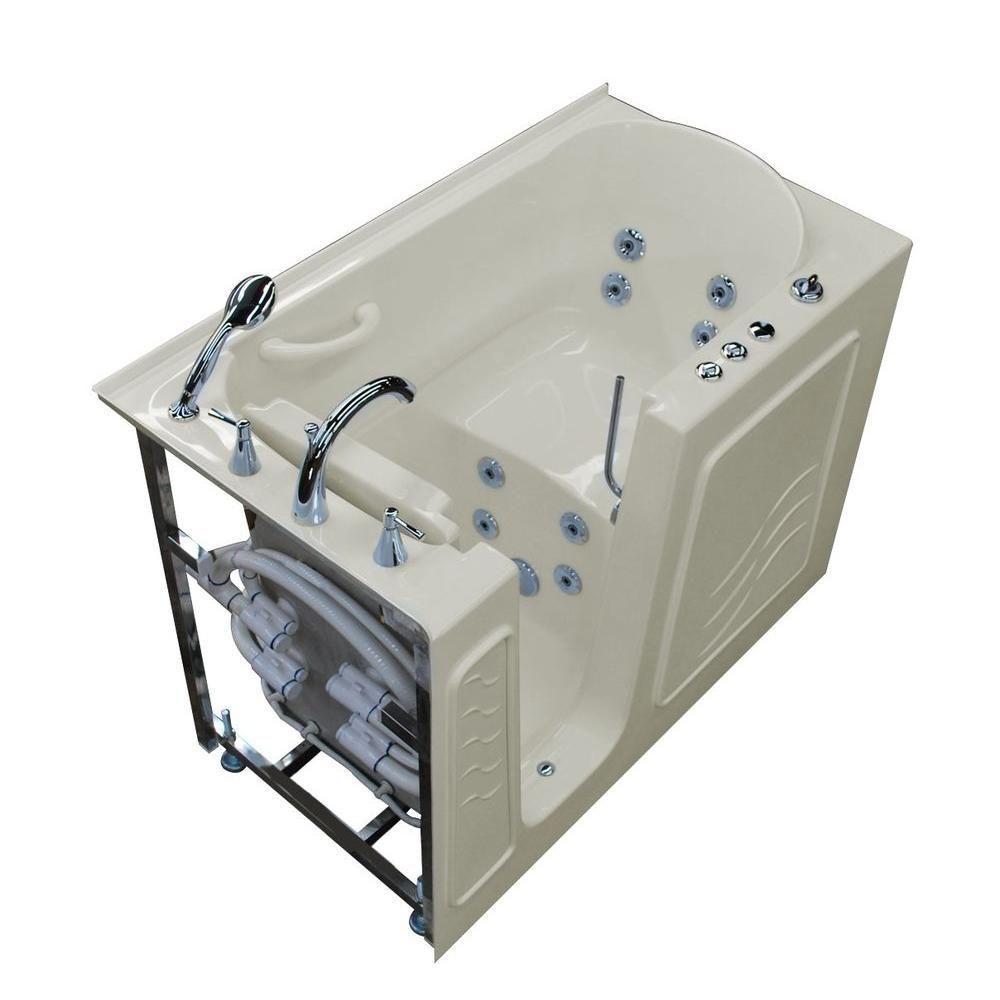 Universal Tubs Nova Heated 4 5 Ft Walk In Whirlpool Bathtub In