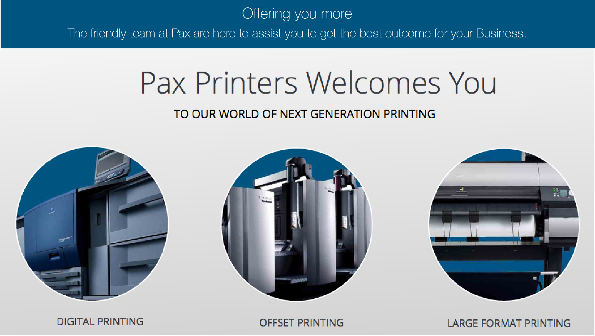 Pax printers provides digital offset and large format printing pax printers provides digital offset and large format printing services in dandenong south area reheart Choice Image