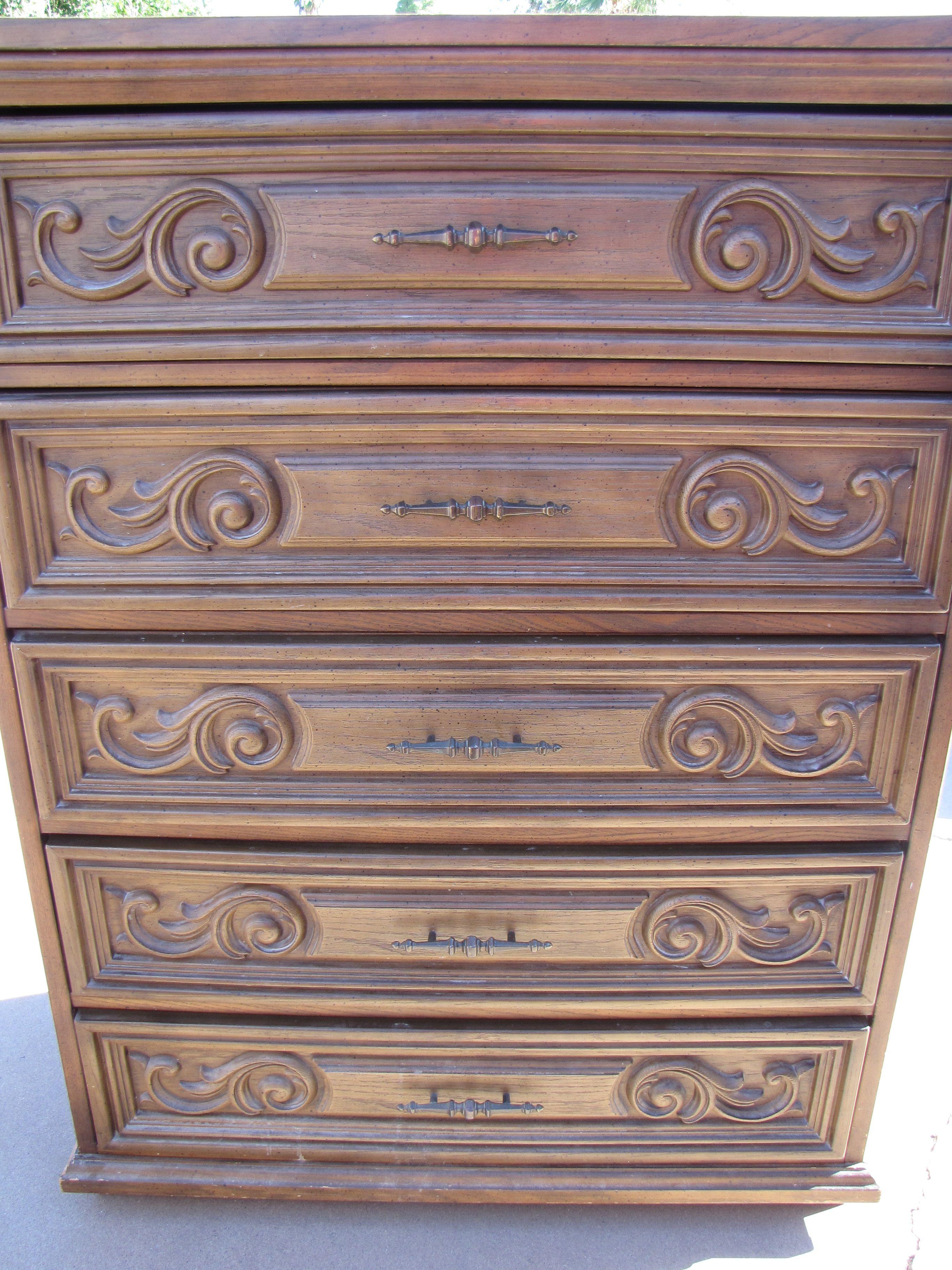 Before Bassett Dresser With Scroll Work Portfolio Design