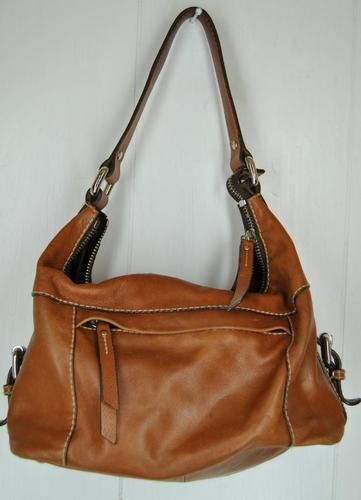 c7d38d1c03 Fossil Handbag Light Brown TAN Leather Purse BAG