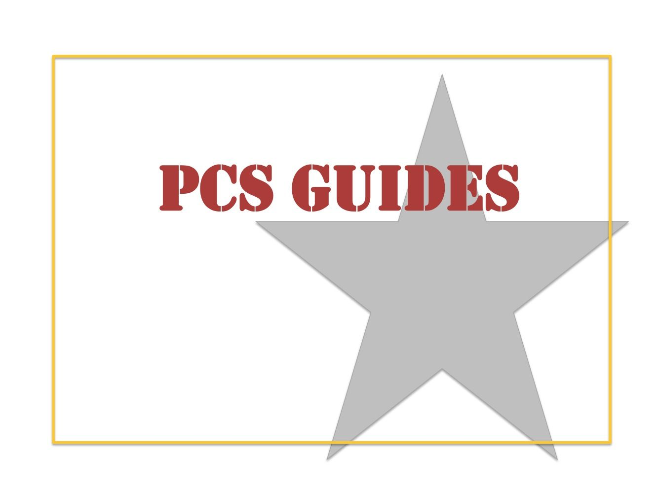 PCS Guides for military families. These guides are put together from comments from other military families. They will reduce your stress before your next PCS.