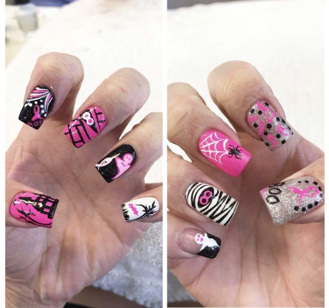 Super Stylish And Cute Halloween Nail Ideas 2019 Cancer Nails Cute Halloween Nails Halloween Nails