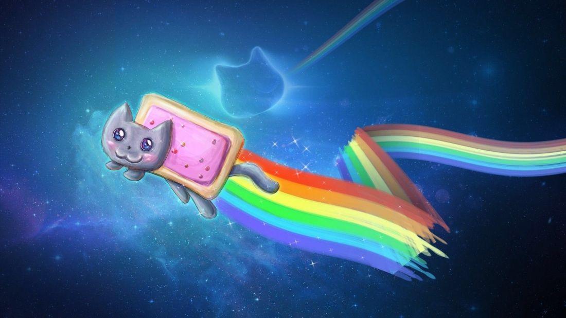 Nyan Cat Wallpaper Nyan Cat Nyan Cat Cat Wallpaper