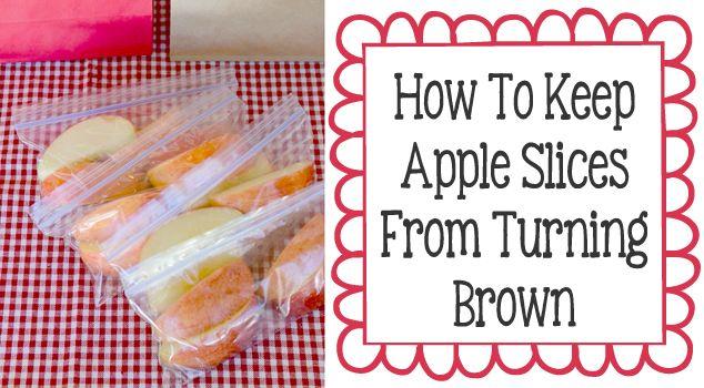 how to keep sliced fruit fresh