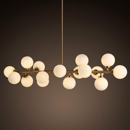 Creative or salle à manger lustre moderne en verre lampe