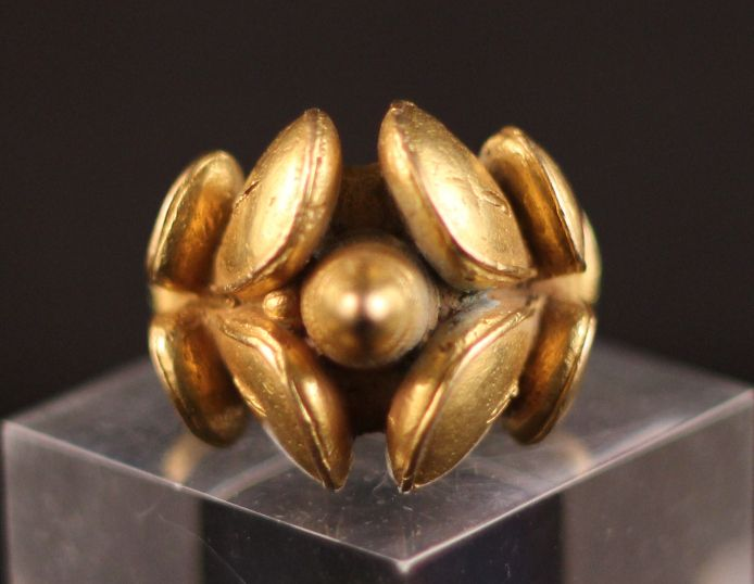 Gold Ring Country of Origin Ghana Ethnic Group Akan Measurement