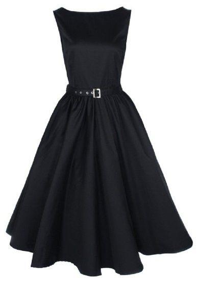 Amazon.com: Lindy Bop Vintage 50's Audrey Hepburn Style Swing Party Rockabilly Evening Dress: Clothing