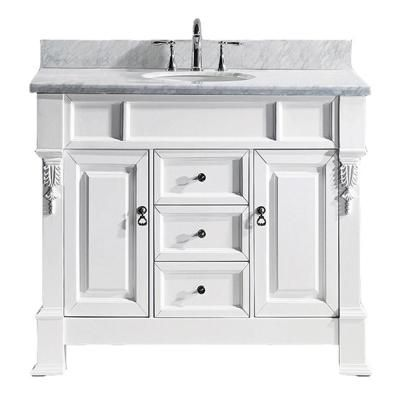 Virtu Usa Huntshire 40 In W Single Bath Vanity In White With