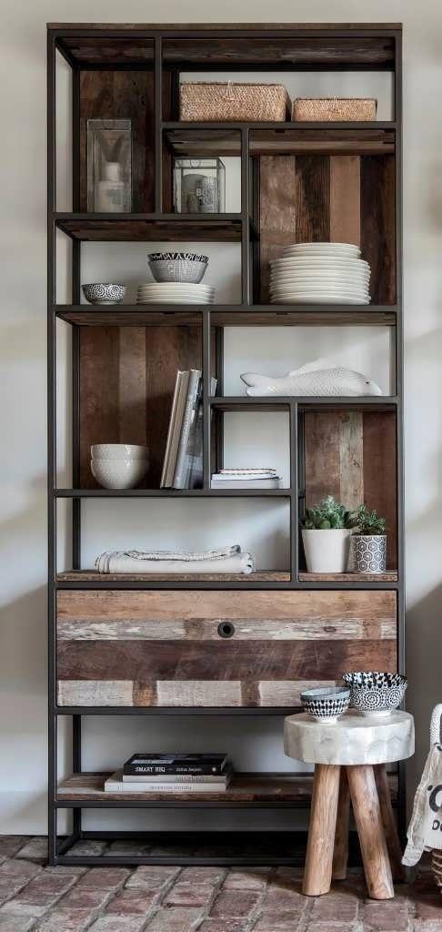 Industriële boekenkast Orly   Inrichting / wonen   Pinterest - Kast ...