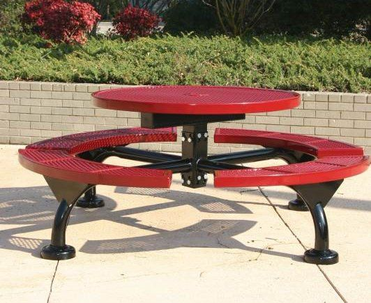 picnic tables mounting plates are standard and can be either