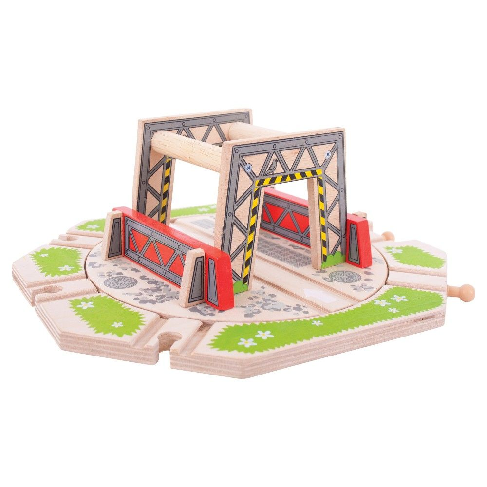 Jigs Rail Turntable Wooden Railway Train Set Accessory