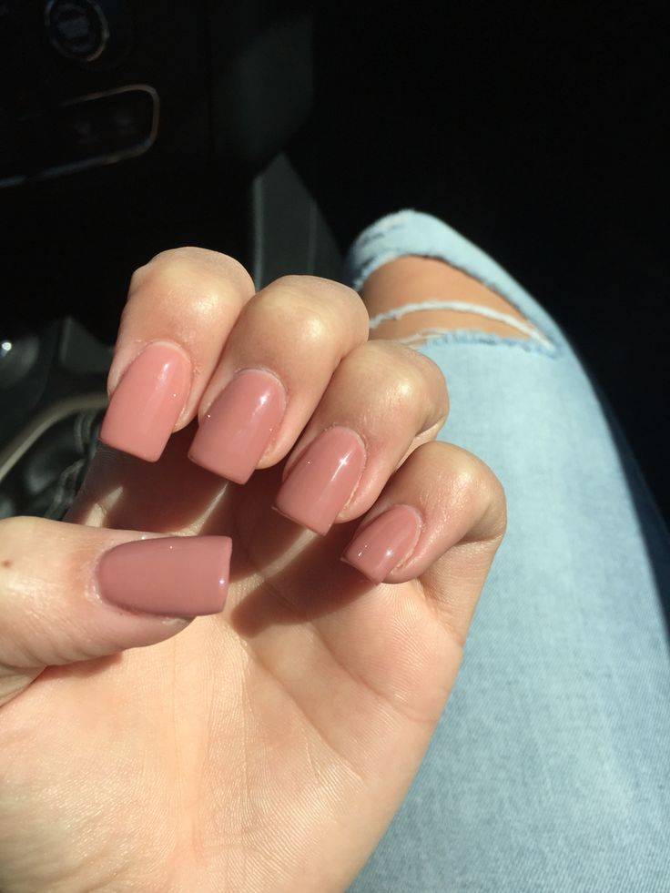 So in love with my nails. Square medium length nude acrylics | nail ...