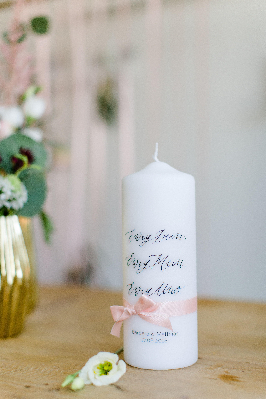 Personalisierte Hochzeitskerze Traukerze Kalligrafie Ewig Uns Fur Vintage Boho Und Fine Art Hochzeit Hochzeitsdekoration Hochzeitskerze Traukerze Kerzen