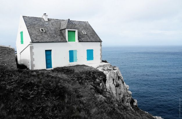 House on the Sea,  Ile d'Ouessant  Bretagne  -  Brittany