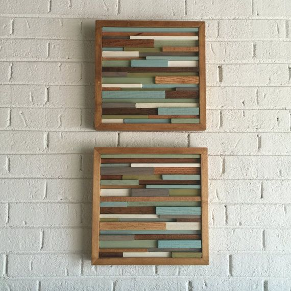Distressed abstract wood wall art tropical modern decor pinterest also rh