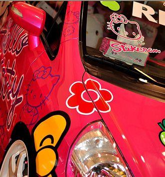 Hello Kitty Honda Fit