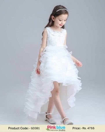571fc0563 Beautiful White Special Occasion Exclusive Outfit for Baby Girls ...
