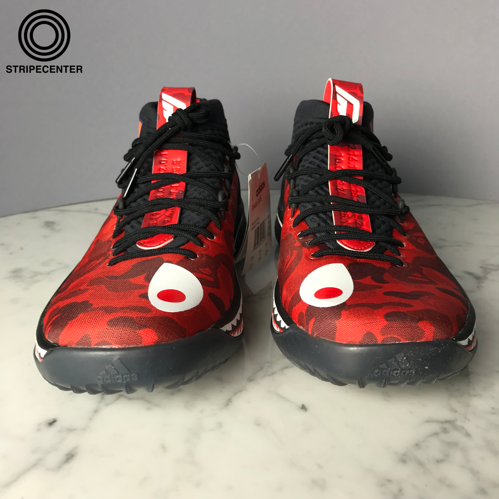 Details about adidas DAME 4 X A BATHING APE BLACK/RED