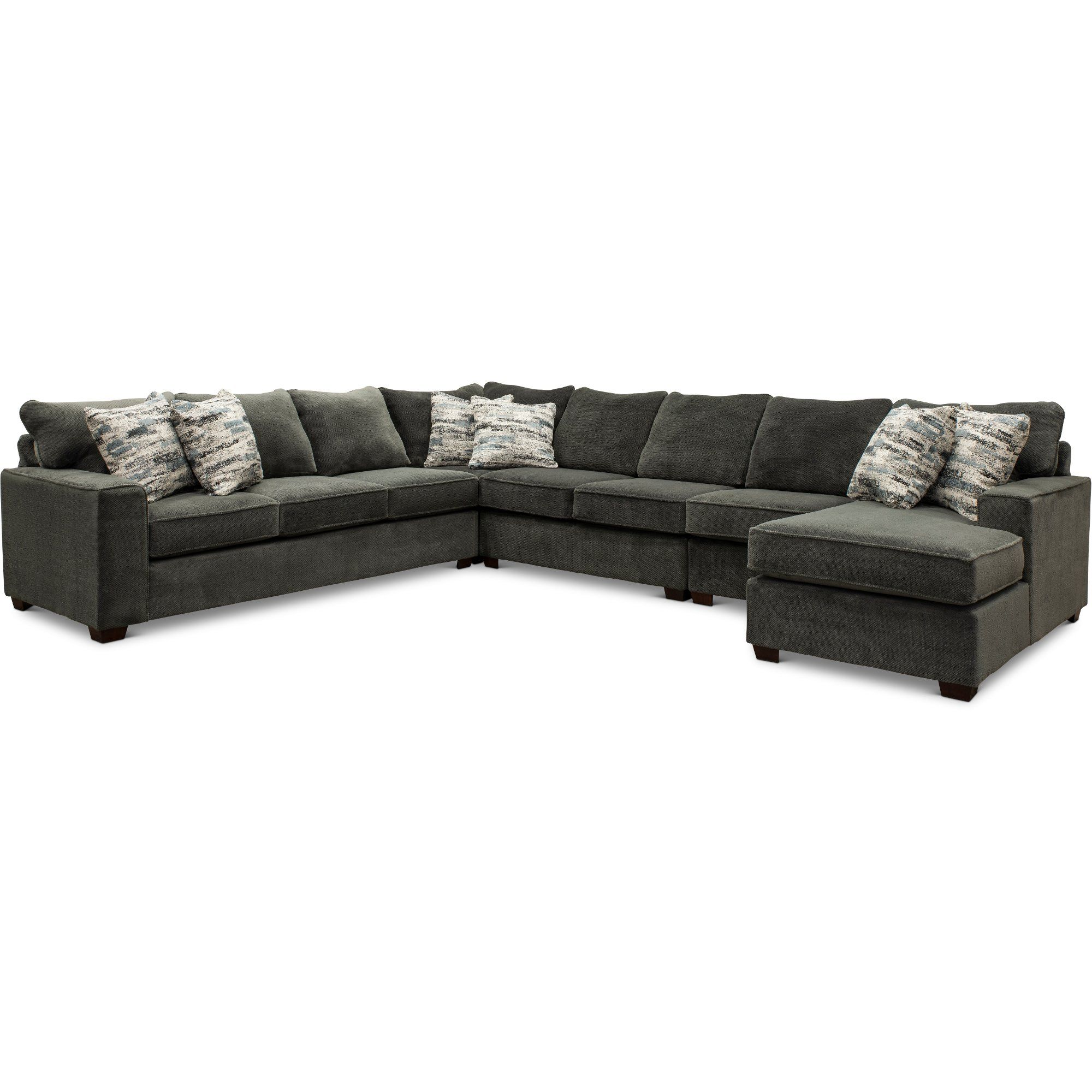 Dark Gray 5 Piece Sectional Sofa With Laf Sofa Autumn