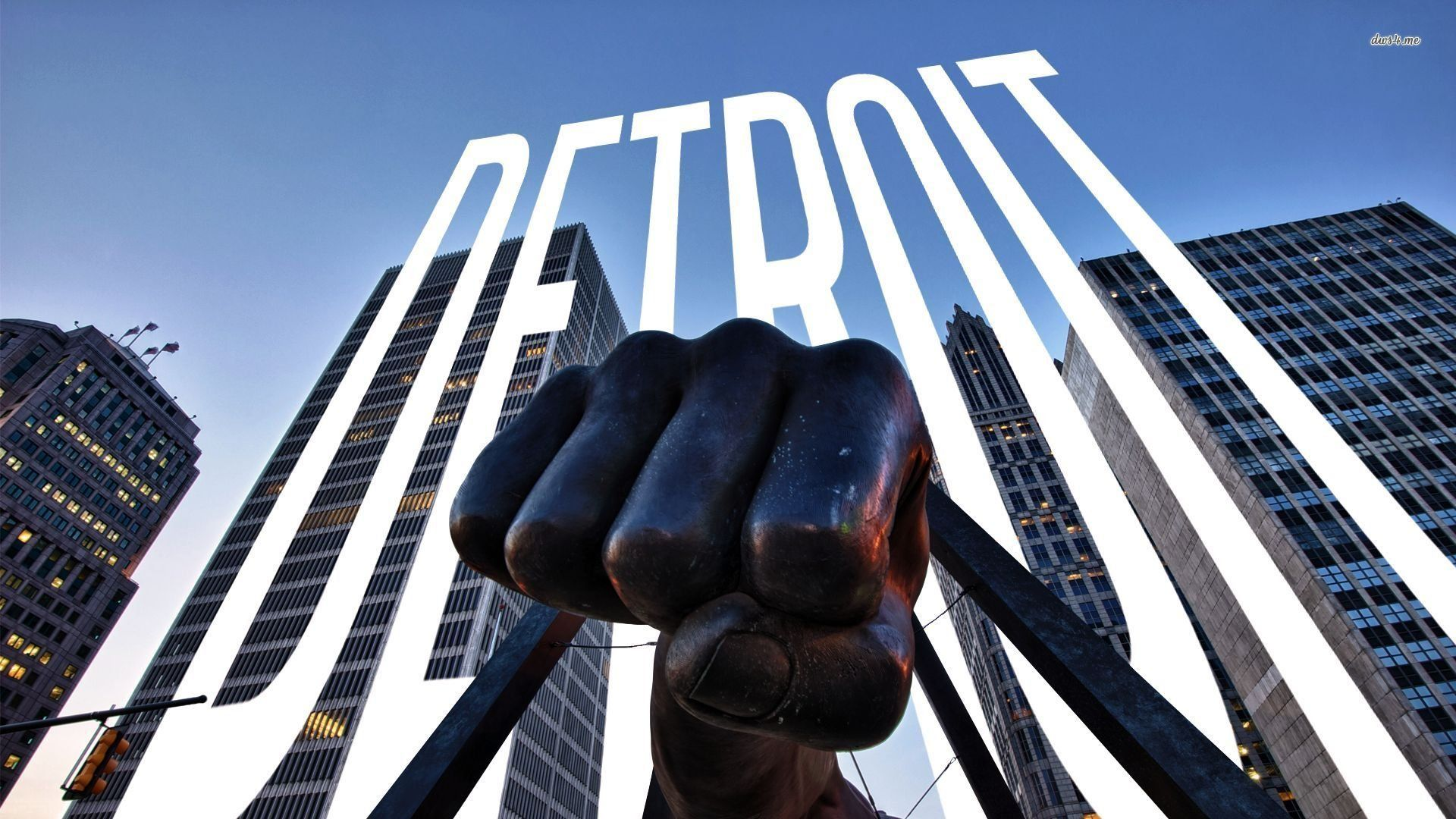 Monument To Joe Louis Detroit Wallpaper Michigan Usa Joe Louis Detroit