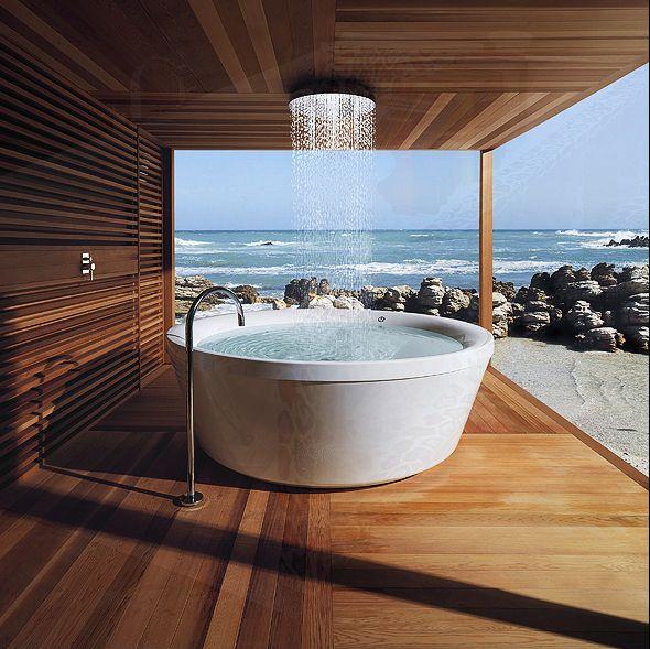 Het bad, het uitzicht...wat wil je nog meer