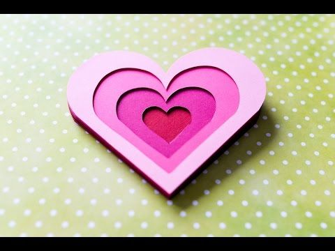 How to Make 3D Greeting Card Valentines Day Heart Step by – Youtube Valentines Day Cards