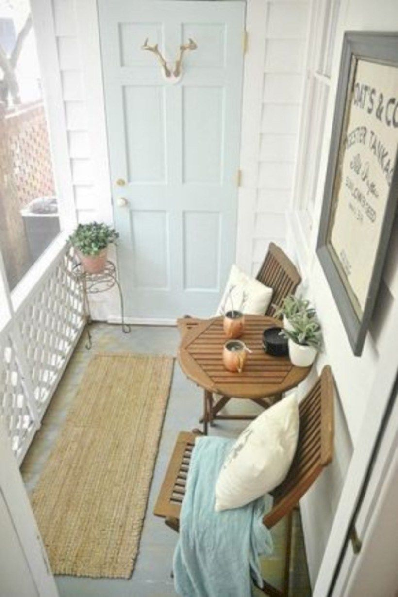 Creative small apartment balcony decorating ideas on a budget in