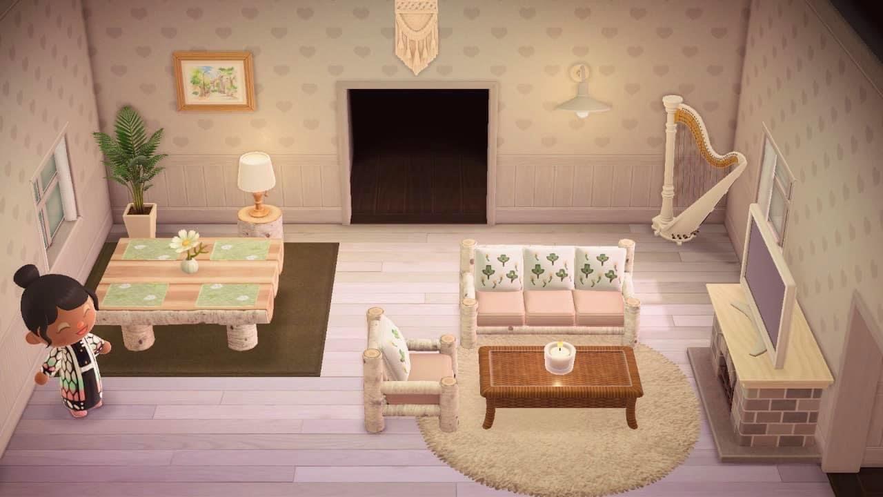 Pin By Adrienne Gagliardi On Animal Crossing In 2020 Living Room Warm Living Room Designs Cute Living Room