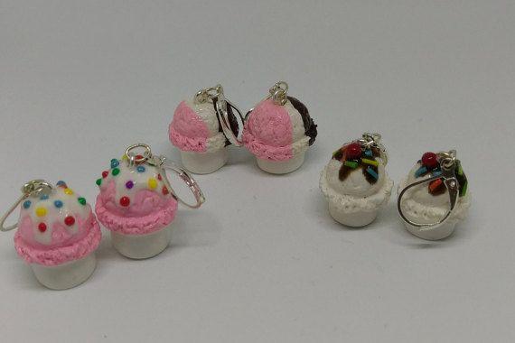 ice cream earrings by DeckedOutJewelry on Etsy