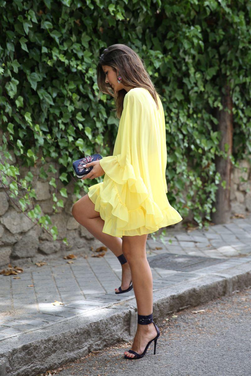 Pin by ana julia on clothes pinterest yellow dress black heels