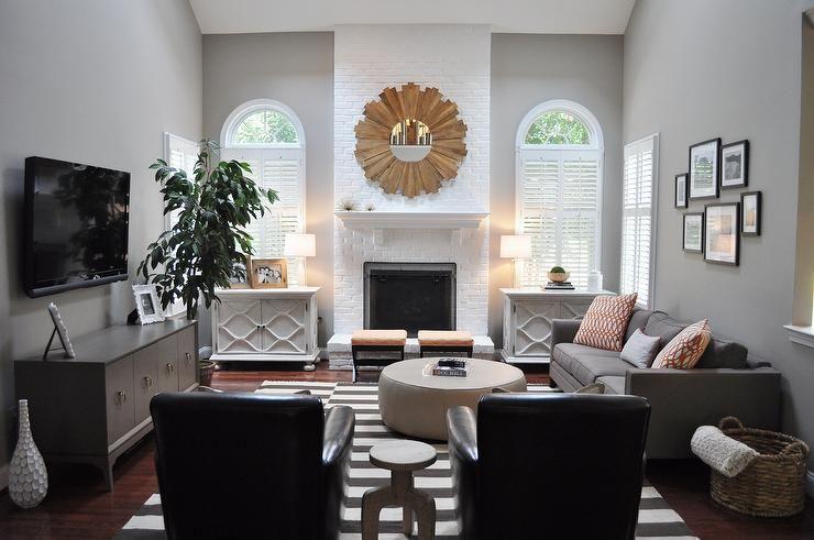 living rooms - benjamin moore - cosmopolitan - modern family room