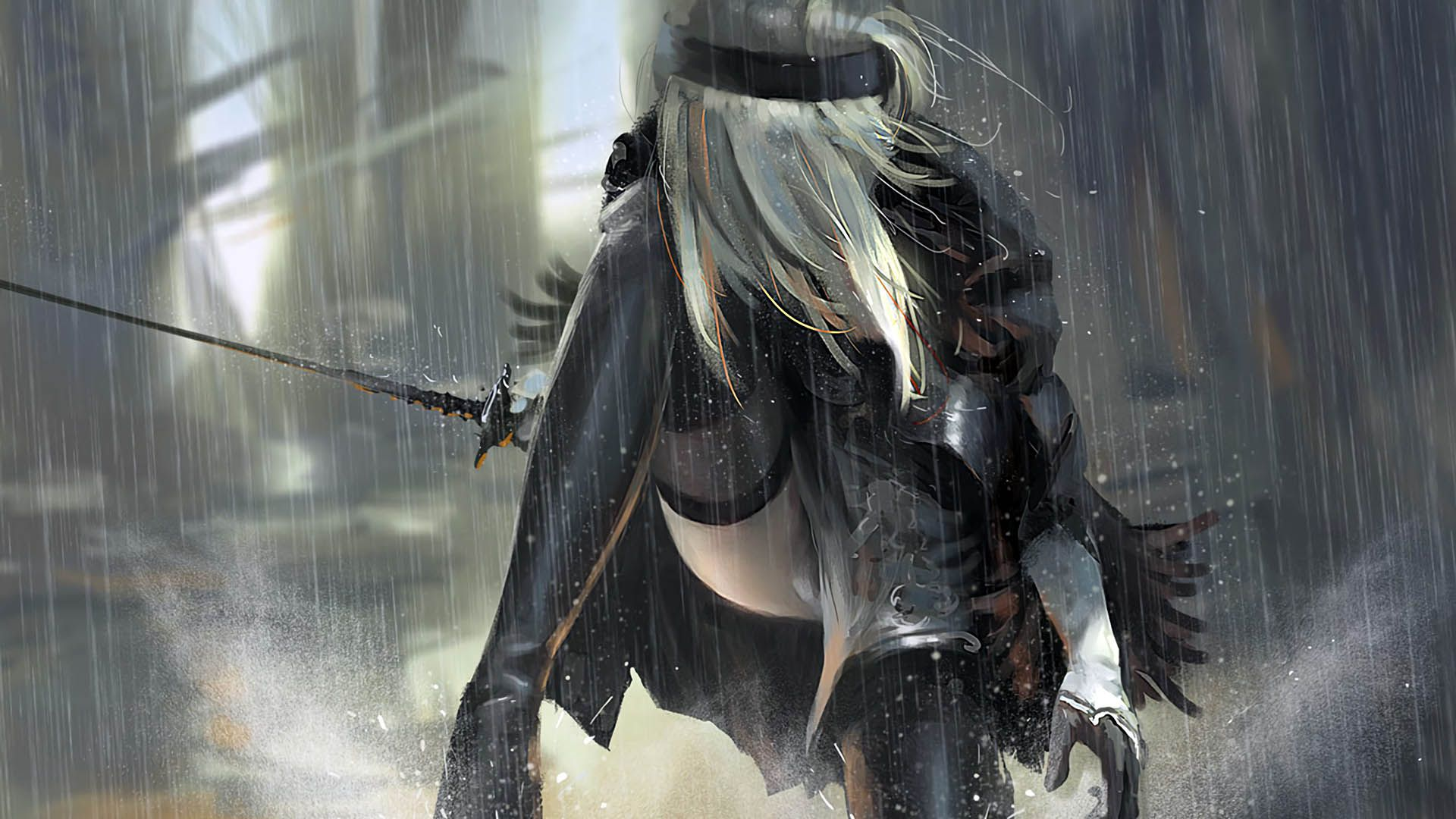 Nier Automata Fan Art Wallpaper 01 1920x1080: 2B Nier Automata 1920x1080 Wallpaper