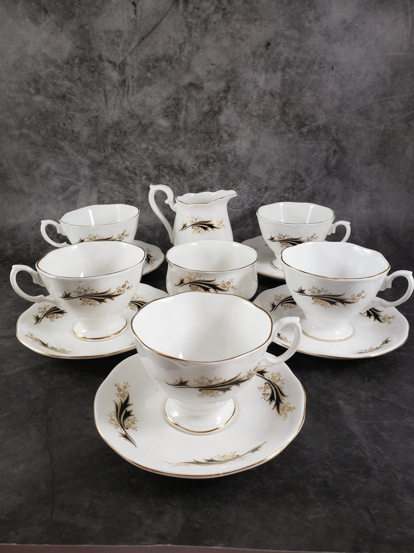 Richmond/Royal Albert Bone China Tea/Coffee Set, 12 Pieces